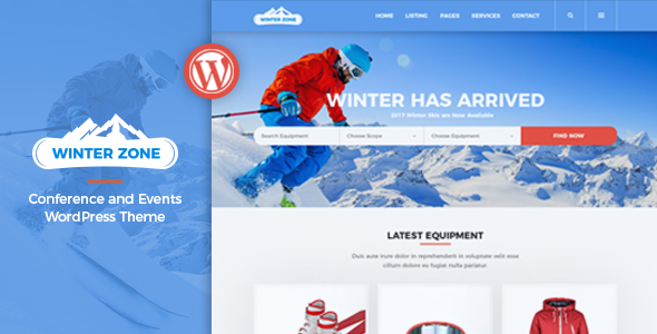 Image of WinterZone – Ski & Winter Sports WordPress Theme