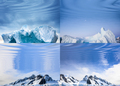 polar landscapes reflected in water