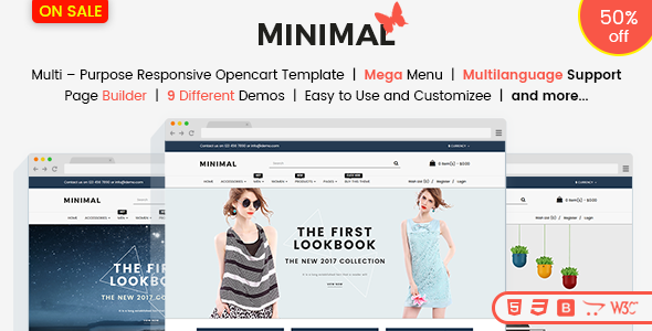 Image of Responsive OpenCart 3 Theme Template - Minimal Fashion Store & Jewelry Store