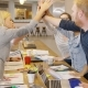 People High-fiving in Office