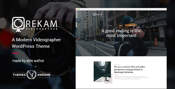 Image of Rekam | A Modern Videographer WordPress Theme