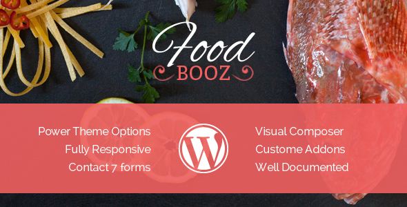 Image of FoodBooz Minimal WordPress Restaurant & Cafe Theme