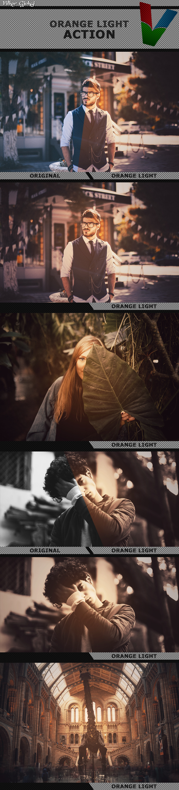 Orange Light Action - Photo Effects Actions