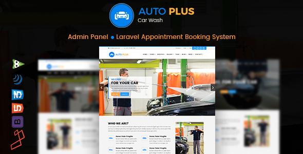 CodeCanyon Auto Plus Laravel Car Wash Booking 20836667