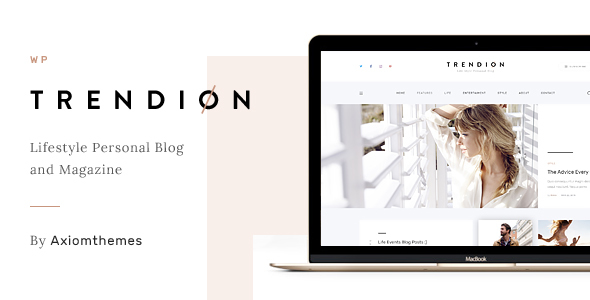 ThemeForest Trendion Personal Lifestyle Blog and Magazine 20836804