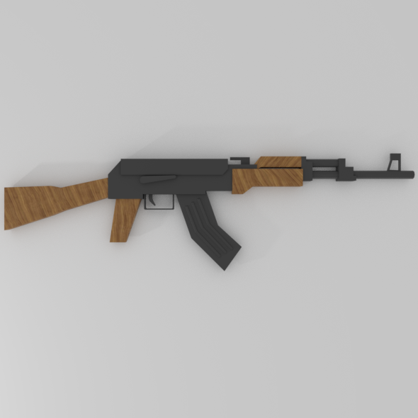 Low-Poly AK-47 - 3DOcean Item for Sale