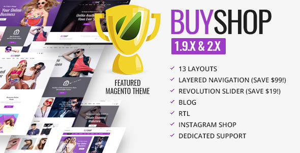 BUYSHOP - Responsive Retina eCommerce theme for Magento - Fashion Magento