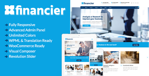 Image of Financier - Business WordPress Theme
