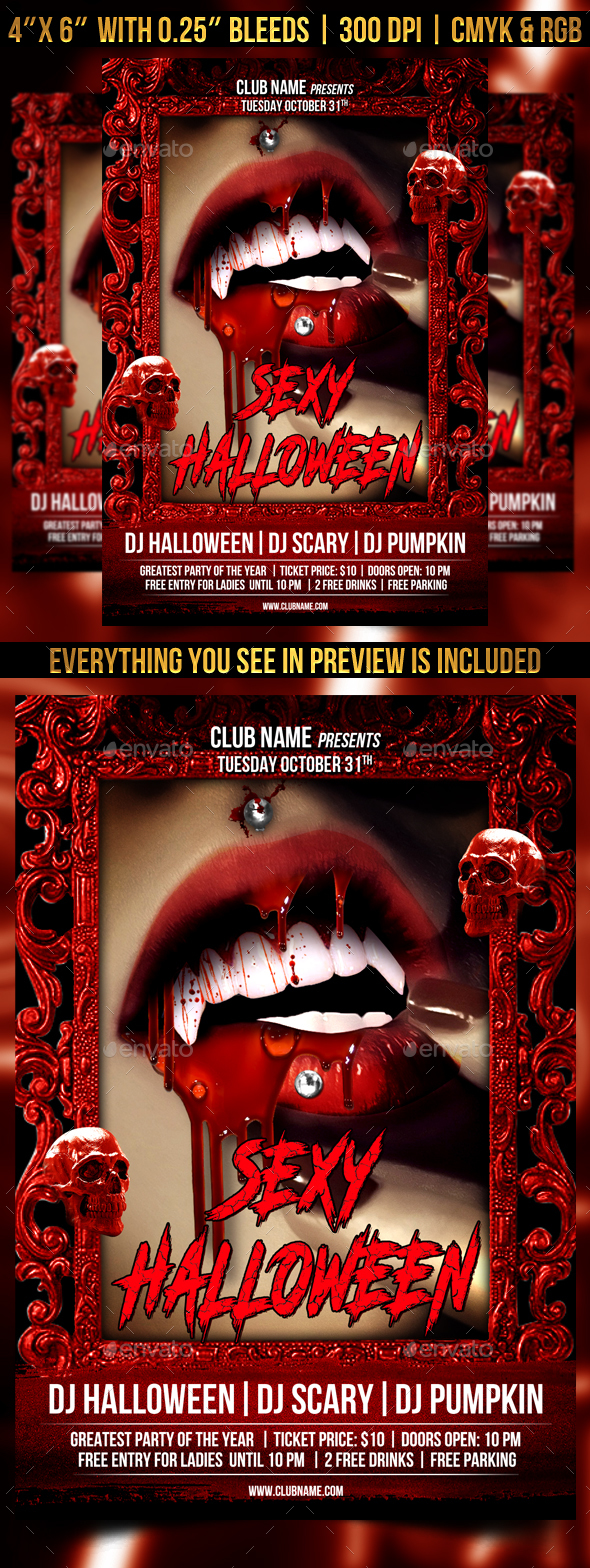 Sexy Halloween Flyer Template