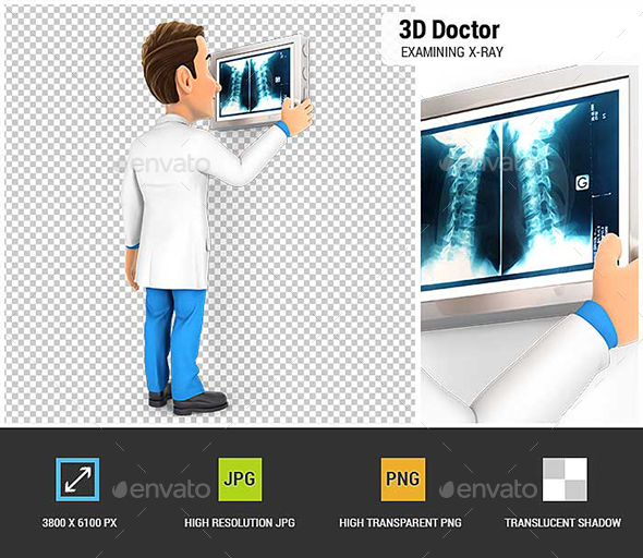 GraphicRiver 3D Doctor Examining X-Ray 20837014