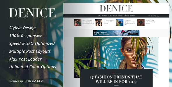 Denice - A Responsive WordPress Blog Theme - Blog / Magazine WordPress