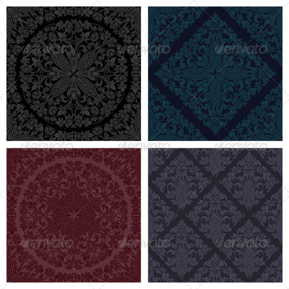 Seamless floral patterns set - Patterns Decorative