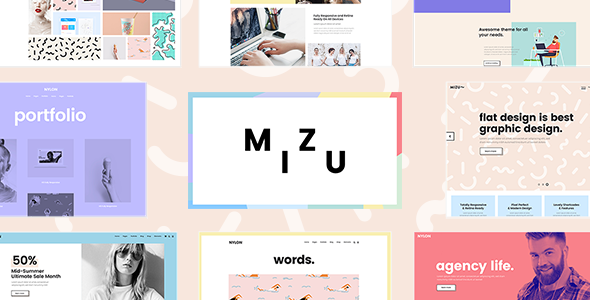 ThemeForest Mizu A Theme for Designers Agencies and Creative Studios 20837261