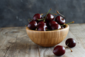 Red cherries in a bowl - PhotoDune Item for Sale