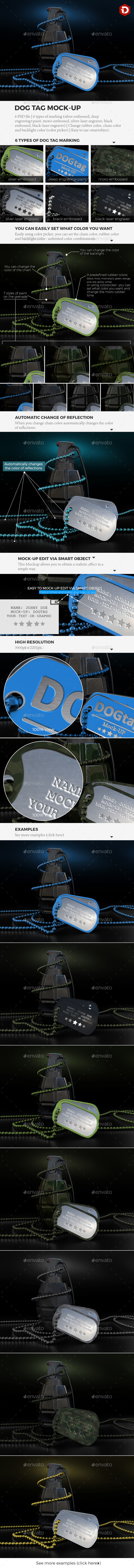 GraphicRiver Dog Tag Mock-up 20837426