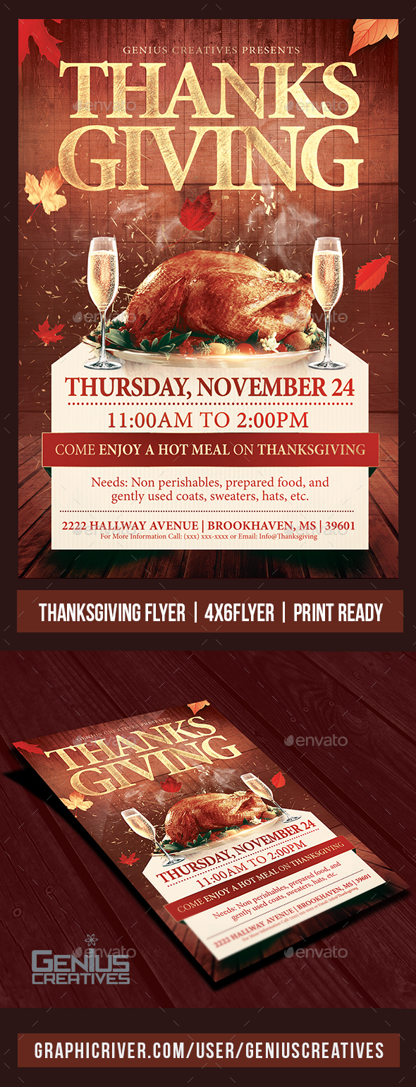 GraphicRiver Thankgiving Day Flyer Template 20837429