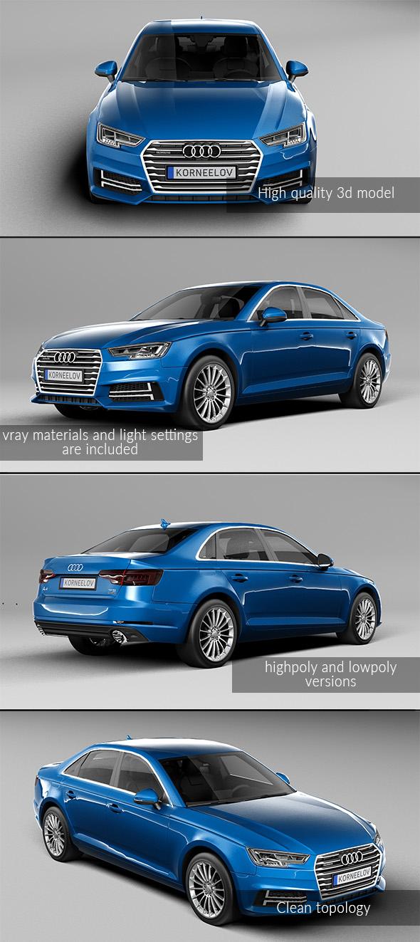 3DOcean Audi A4 20837437