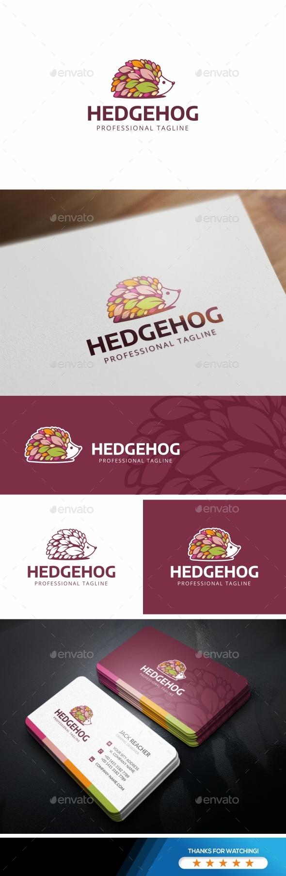 GraphicRiver Hedgehog Leaves Logo 20835410