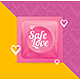 Realistic Condoms Package Safe Love Concept