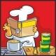 Chef Preparing Soup and Reading Recipe Cookbook