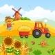 Tractor Carries a Hay - GraphicRiver Item for Sale