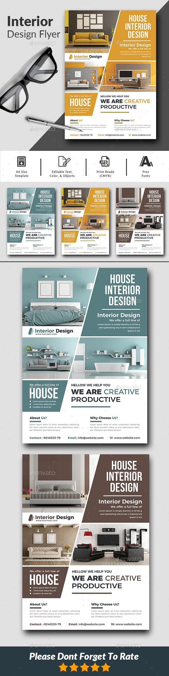 Interior Design Flyer Templates - Corporate Flyers