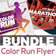 Color Run Event Flyer Bundle