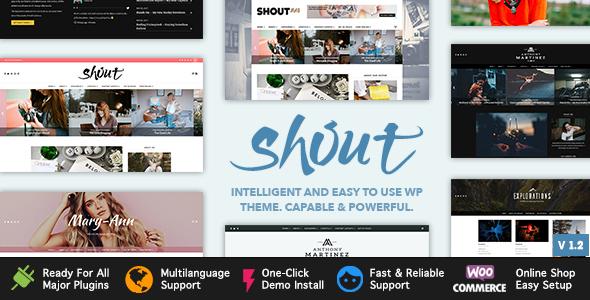 Image of Shout - Blogging WordPress Theme