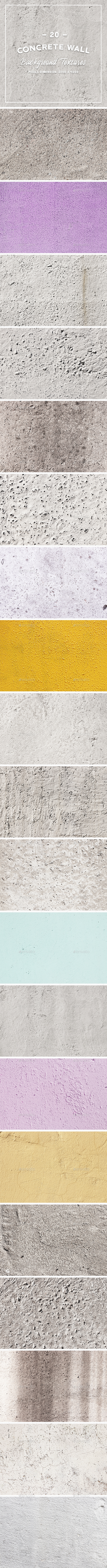 GraphicRiver 20 Concrete Wall Background Textures 20837971