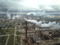 Factory smoke stack - Oil refinery, petrochemical or chemical pl