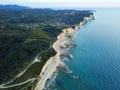 Picturesque coast of Corfu island. Beautiful sea landscape