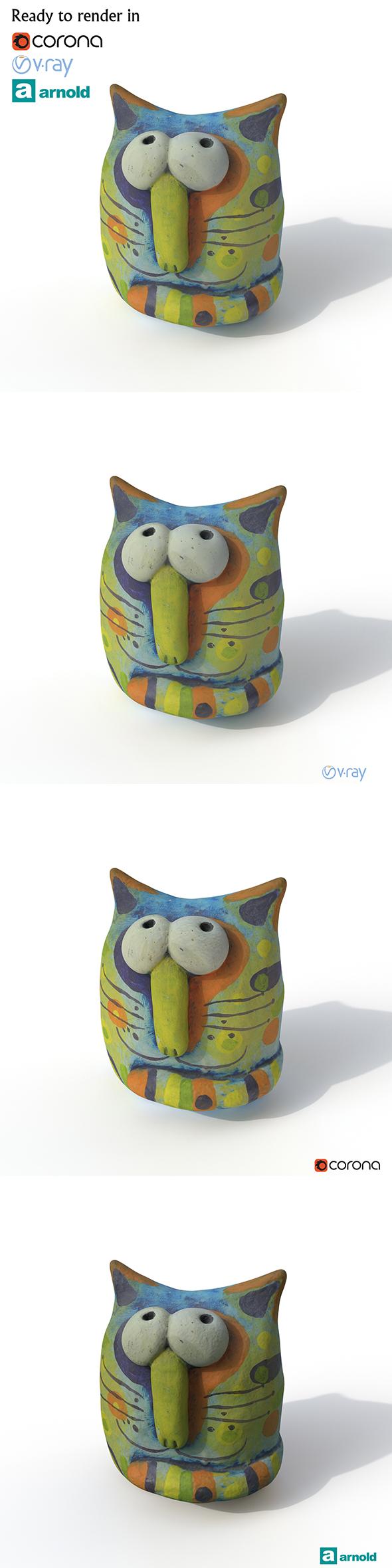 3DOcean Statuette Cat 20838088