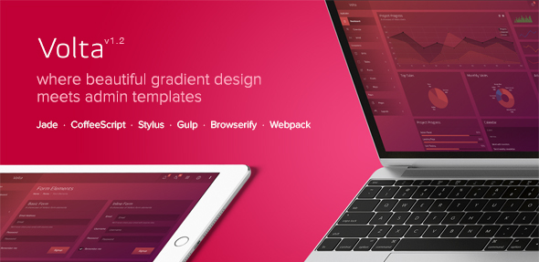 Volta - Futuristic Web Application and Admin Dashboard - Admin Templates Site Templates