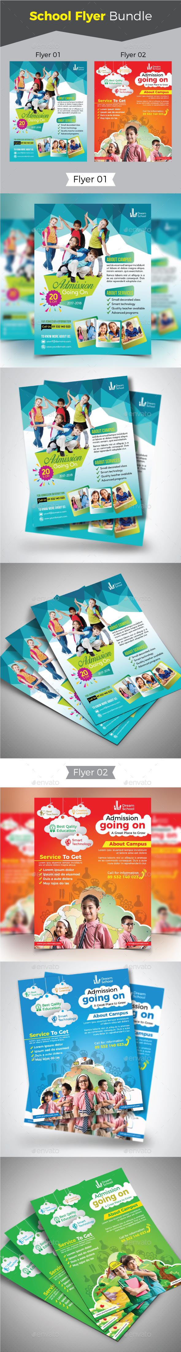 GraphicRiver School Flyer Bundle 20838331