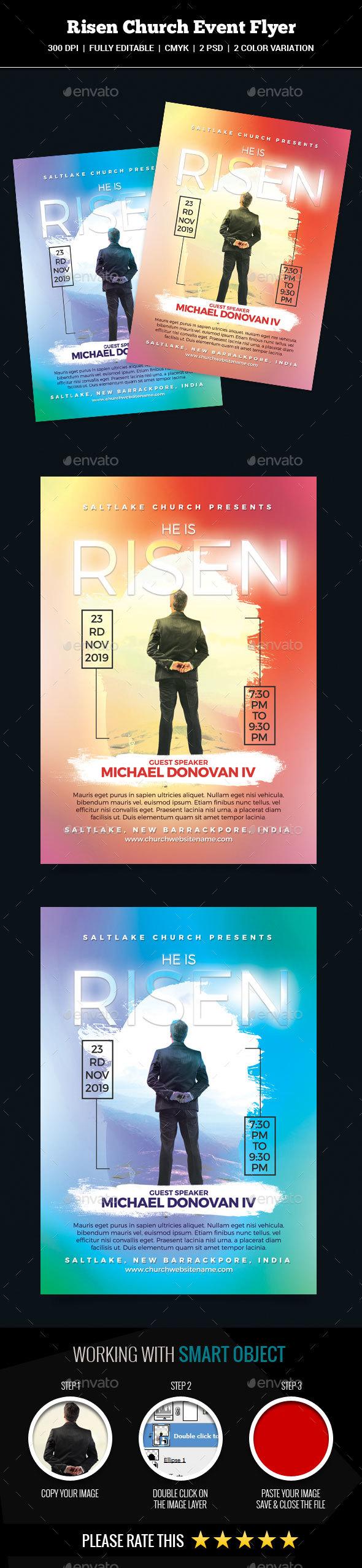 GraphicRiver Risen Church Event Flyer 20838463