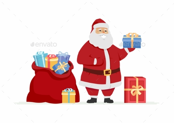 Santa Claus with Presents - Christmas Seasons/Holidays
