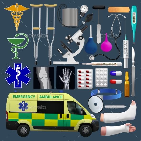 GraphicRiver Medical Equipment Set 20838570