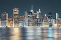 New York City skyline at night, USA - PhotoDune Item for Sale