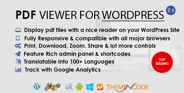 PDF viewer for WordPress - CodeCanyon Item for Sale