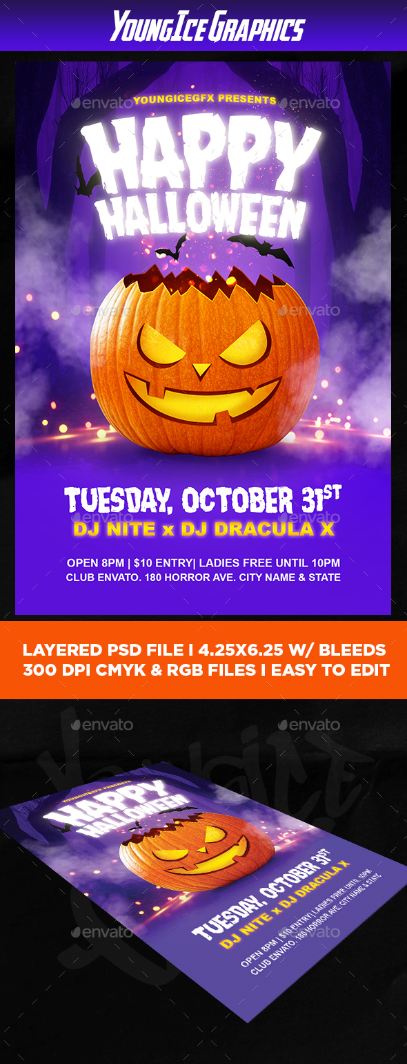 Happy Halloween Flyer Template - Clubs & Parties Events