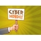 Hand Holding Banner With Text Cyber Monday - GraphicRiver Item for Sale