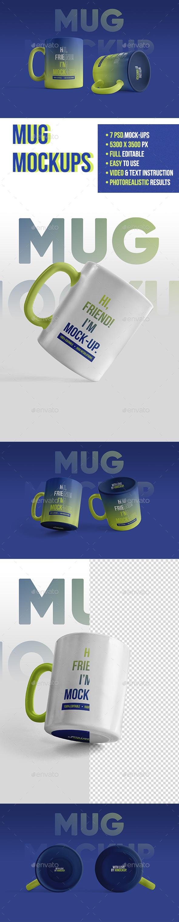 Mug Mockups - Food and Drink Packaging