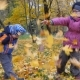 Children Playing in the Nature in Autumn - VideoHive Item for Sale