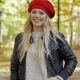 Happy Woman in Red Beret