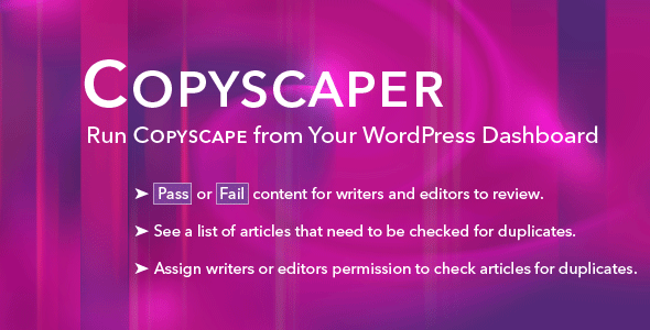 Copyscaper - Run Your Posts Through Copyscape Directly in Your WordPress Dashboard - CodeCanyon Item for Sale