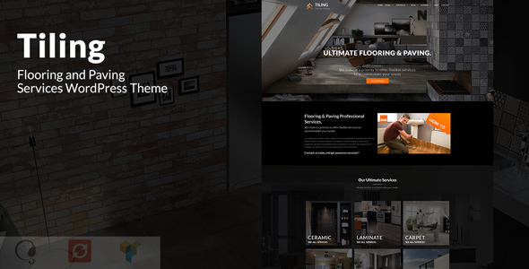 Image of Tiling - Flooring and Paving Services WordPress Theme