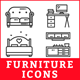 Furniture Icons - GraphicRiver Item for Sale