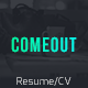 ComeOut -  Responsive Html Portfolio CV/Resume Template - ThemeForest Item for Sale