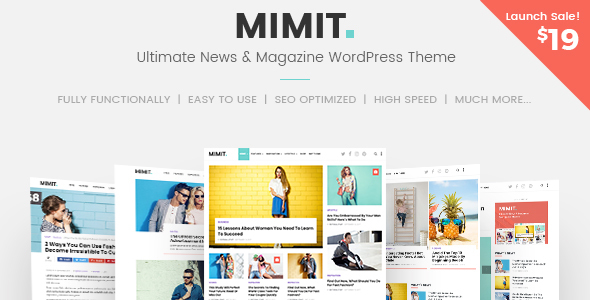 Mimit - Ultimate News & Magazine WordPress Theme
