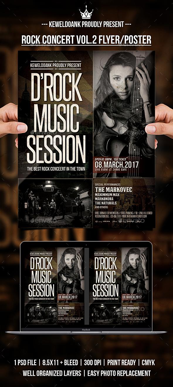 Rock Concert Vol.2 Flyer / Poster - Concerts Events